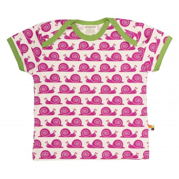 Loud-Proud, t-shirt m. snegle, fuchsia