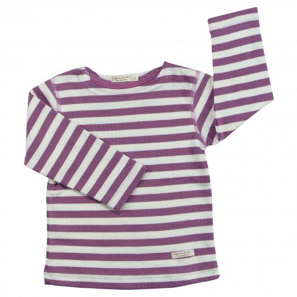 Pigeon Organics, Stribet t-shirt, Lilla