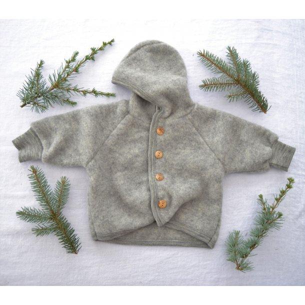 Engel, uldfleece jakke, grå
