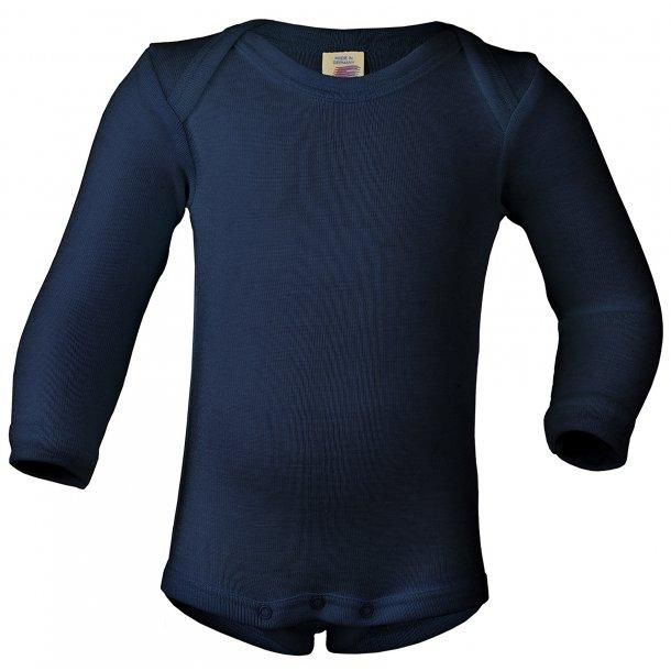Engel natur, uld/silke body Marineblå