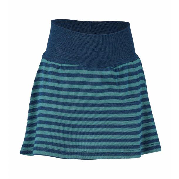 Engel, nederdel i uld/silke, light ocean/ isfugl