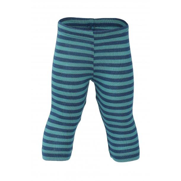 Engel leggins, uld/silke light ocean/isfugl