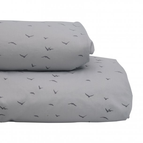 Petit by V, Baby sengetøj, grå m. svaler