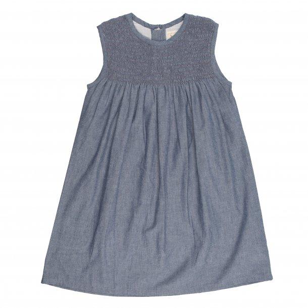 Pigeon Organics, kjole med smock, blå