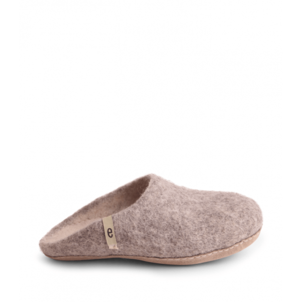 Egos Copenhagen, Slipper, Natural grey Str. 36-46