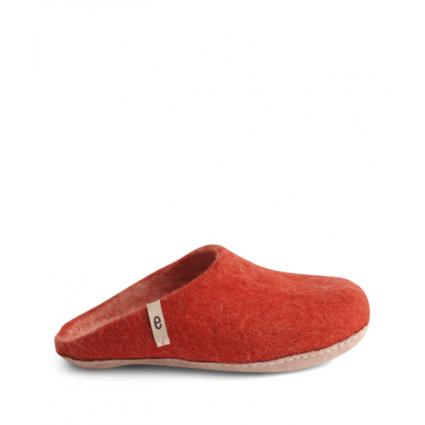 Egos Copenhagen, Slipper, Rusty red Str. 36-46